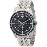 โปรโมชั่น Emporio Armani Men S Ar5988 Sportivo Analog Display Analog Quartz Silver Watch Emporio Armani