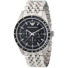 โปรโมชั่น Emporio Armani Men S Ar5988 Sportivo Analog Display Analog Quartz Silver Watch