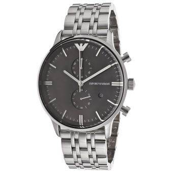 Emporio Armani Men's Quartz Watch AR0389 AR0389 with Metal Strap - Silver