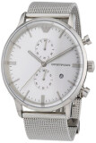 ส่วนลด Emporio Armani Men S Quartz Watch Ar0390 With Metal Strap Silver กรุงเทพมหานคร