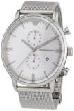 ขาย ซื้อ ออนไลน์ Emporio Armani Men S Quartz Watch Ar0390 With Metal Strap Silver