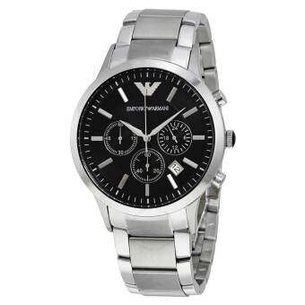 Emporio Armani  นาฬิกาข้อมือ  Men's AR2434 Chronograph Stainless Steel Watch(Black)