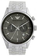 ราคา Emporio Armani Sportivo Chronograph Grey Dial Stainless Steel Men S Watch รุ่น Ar5997