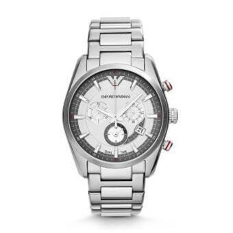 Emporio Armani Sportivo Men Watch Stainless Strap รุ่น AR6036 - Silver