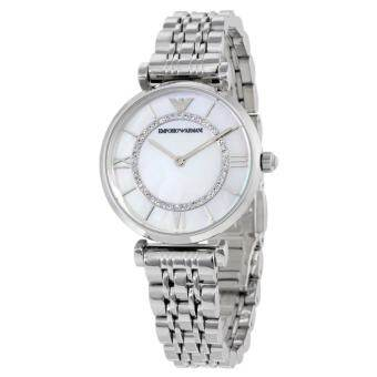 Emporio Armani Women's Steel Bracelet & Case Quartz MOP Dial Analog Watch AR1908
