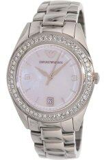ราคา Emporio Armani Women S Classic Ar5992 Silver Stainless Steel Analog Quartz Watch With Mother Of Pearl Dial ใหม่