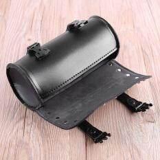 โปรโมชั่น Era Motorcycle Pu Leather Tool Bag Luggage Saddlebag Roll Barrel Storage Bag ใน สมุทรปราการ