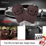 ราคา Esogoal Car Backseat Organizer ผ้ากันเปื้อนผ้ากันเปื้อนกระเป๋า Protector Storage 4 ตะขอ สีเทาเข้ม เป็นต้นฉบับ