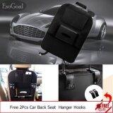 ความคิดเห็น Esogoal Car Backseat Organizer ผ้ากันเปื้อนผ้ากันเปื้อนกระเป๋า Protector Storage 2 ตะขอ สีเทาเข้ม