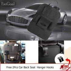 ขาย Esogoal Car Backseat Organizer ผ้ากันเปื้อนผ้ากันเปื้อนกระเป๋า Protector Storage 2 ตะขอ สีเทาเข้ม Esogoal เป็นต้นฉบับ