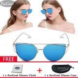 ซื้อ Esogoal แฟชั่นผู้หญิงแว่นตากันแดดครีมกันแดด Anti Uv สีฟิล์มแว่นตา อุปกรณ์เสริมแว่นตากันแดดทองและสีเงิน จีน