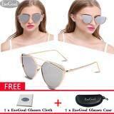 ขาย Esogoal แฟชั่นผู้หญิงแว่นตากันแดดครีมกันแดด Anti Uv สีฟิล์มแว่นตา อุปกรณ์เสริมแว่นตากันแดดทองและสีเงิน Esogoal ถูก