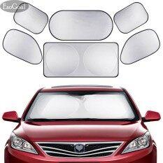Esogoal ม่านบังแดดรถยนต์ โปร่งแสง 5 1 ชิ้น Car Windshield Sunshade With Storage Bag เป็นต้นฉบับ
