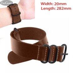 โปรโมชั่น Esogoal Genuine Leather Watch Bands นาฬิกาข้อมือหนังแท้ สายนาฬิกาข้อมือ สายรัด กว้าง 20 มม ความยาว 282 มม Intl Esogoal ใหม่ล่าสุด