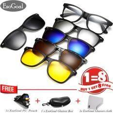 ขาย Esogoal Magnetic Sunglasses 5 Lenses แว่นตากันแดดทรงสปอร์ต รุ่น แถมฟรีแว่นตากันแดด รุ่น5 คละสี ถูก ใน จีน