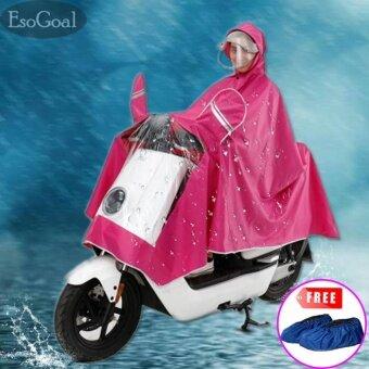 EsoGoal ฝนเสื้อปอนโชชุดกันฝนแบบเสื้อพร้อมกางเกงขนาดฟรีไซส์-นานาชาติ