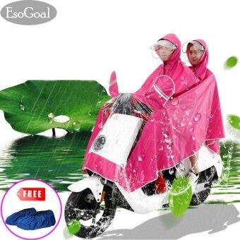 EsoGoal Rain Poncho ชุดกันฝน แบบเสื้อพร้อมกางเกง ขนาดฟรีไซส์ (Hotpink) - intl