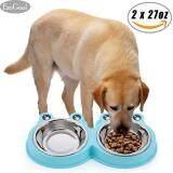 ซื้อ Esogoal ชามอาหาร ชามน้ำ กันมดขึ้นบนอาหาร สำหรับสุนัขและแมว Size 28 14 4 5Cm ขนาด ใหม่ล่าสุด
