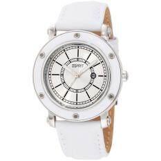 ราคา Esprit Watch Deco White Stainless Steel Case Leather Strap Ladies Es104042001 ใหม่ล่าสุด