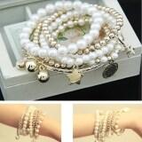 ราคา Etop Eiffel Tower Beads สร้อยข้อมือผสมกำไลข้อมือจี้เงิน Multicolor สนามบินนานาชาติ Etop เป็นต้นฉบับ