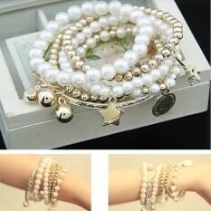 ราคา Etop Eiffel Tower Beads สร้อยข้อมือผสมกำไลข้อมือจี้เงิน Multicolor สนามบินนานาชาติ Etop จีน