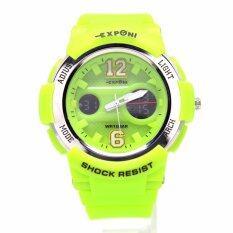 ขาย Exponi นาฬิกาข้อมือผู้ชายและผู้หญิง สายยางและซิลิโคน 2 ระบบดิจิตอลและระบบเข็ม Epb 001 006 เป็นต้นฉบับ