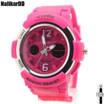 Exponi Watch นาฬิกาข้อมือผู้หญิงและเด็ก สายยาง 2 ระบบเข็มและดิจิตอล