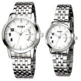ซื้อ Eyki นาฬิกาข้อมือคู่รัก สายสแตนเลส รุ่น E 8408 White Silver Eyki ถูก