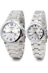 Eyki นาฬิกาข้อมือคู่รัก รุ่น E 8529 Silver Blue ถูก