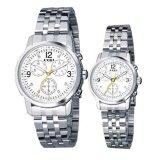 โปรโมชั่น Eyki นาฬิกาข้อมือคู่รัก สายสแตนเลส หน้า่ปัดสีขาว รุ่น E8442Ag ใน สมุทรปราการ