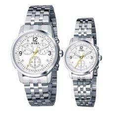 ซื้อ Eyki นาฬิกาข้อมือคู่รัก สายสแตนเลส หน้า่ปัดสีขาว รุ่น E8442Ag Eyki เป็นต้นฉบับ