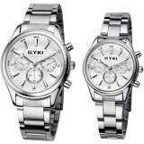 ขาย Eyki Lover Watch นาฬิกาข้อมือคู่รัก ชายหญิง สายสแตนเลส รุ่น Eet8581 White Silver เป็นต้นฉบับ