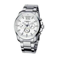 ขาย Eyki นาฬิกาข้อมือชาย รุ่น Overfly 3 หน้าปัด สายสแตนเลส สีขาว ใหม่