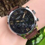 ขาย Eyki Overfly นาฬิกาข้อมือชาย รุ่น Eo3068 หน้าปัดดำ สายน้ำตาลเข้ม Eyki Overfly เป็นต้นฉบับ