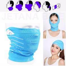 ซื้อ Face Mask หน้ากากมอเตอร์ไซค์ จักรยาน หน้ากาก กันแดด กันฝุ่นละออง 99 7 เนื้อผ้าบางเบา เกี่ยวหู Free Size สีฟ้า