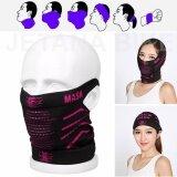 ขาย Face Mask หน้ากากมอเตอร์ไซค์ จักรยาน หน้ากาก กันแดด กันฝุ่นละออง 99 7 เนื้อผ้าบางเบา เกี่ยวหู Free Size สีดำชมพู ใหม่