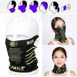 ส่วนลด Face Mask หน้ากากมอเตอร์ไซค์ จักรยาน หน้ากาก กันแดด กันฝุ่นละออง 99 7 เนื้อผ้าบางเบา เกี่ยวหู Free Size สีดำเขียว