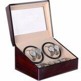 ซื้อ Fancybox ตู้นาฬิกาออโตเมติกแบบหมุน Luxury Watch Winder สำหรับนาฬิกาแบบหมุน 4 เรือน 6 เรือน Brown ใหม่