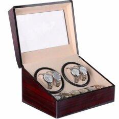 ราคา Fancybox ตู้นาฬิกาออโตเมติกแบบหมุน Luxury Watch Winder สำหรับนาฬิกาแบบหมุน 4 เรือน 6 เรือน Brown ใหม่ล่าสุด