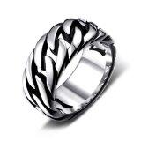 ซื้อ Fang Fang Weave Pattern Stainless Steel Ring Band Titanium Men Jewellery Ring Intl ใน จีน