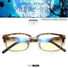 Fashion เกาหลี แฟชั่น แว่นตากรองแสงสีฟ้า รุ่น 5016 C-210 สีน้ำตาลลายกละด้าน ถนอมสายตา (กรองแสงคอม กรองแสงมือถือ) New Optical Filter By Big See.