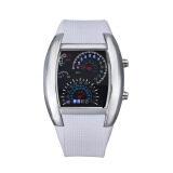 ราคา แฟชั่นเทอร์โบชาร์จไฟแฟลชนาฬิกา Led นาฬิกา Mens Lady กีฬา Meter สีขาว Unbranded Generic ฮ่องกง