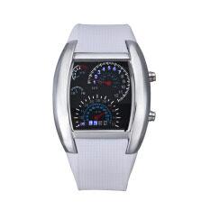 ขาย แฟชั่นเทอร์โบชาร์จไฟแฟลชนาฬิกา Led นาฬิกา Mens Lady กีฬา Meter สีขาว Unbranded Generic เป็นต้นฉบับ