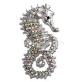 ส่วนลด Fashion Crystal Rhinestone Sea Horse Collar Brooch Pin Wedding Bridal Gift Intl Magideal จีน