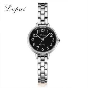 แฟชั่นผู้หญิงสุภาพสตรี Unisex สแตนเลส Rhinestone นาฬิกาข้อมือควอตซ์ C - INTL-