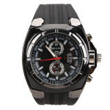 Fashion Men Sports Rubber Strap Quartz Dial Wrist Watch V6 0048 Black Intl Unbranded Generic ถูก ใน จีน