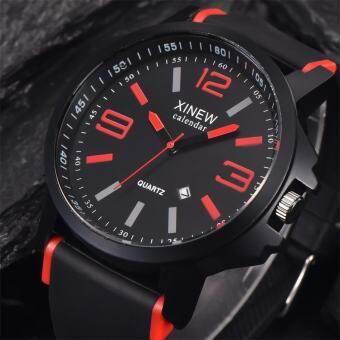 แฟชั่นผู้ชายสแตนเลส Luxury Sport วันที่นาฬิกาข้อมืออะนาล็อกควอตซ์นาฬิกา - INTL