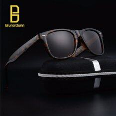 ราคา Fashion Polarized Sunglasses 2017 New Woman Men Brand Designer Retro Sun Glasses Male Eyewear Ray 2140 Leopard Frame Tea Lense Intl Bruno Dunn