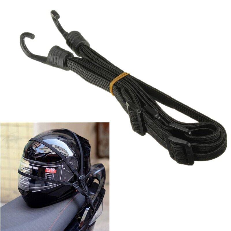 แฟชั่นโปรโมชั่นสีดำรถจักรยานยนต์กระเป๋าสตางค์ยืดหยุ่นสายรัดสกู๊ตเตอร์หมวกกันน็อกสีดำ By Ranki Store.