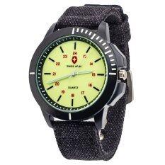 ราคา Fashion Watch Military นาฬิกาข้อมือชาย Black Green ราคาถูกที่สุด